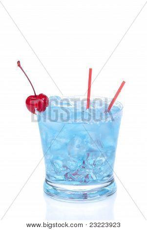 Cocktail Blue Hawaiian With Alcohol, Vodka