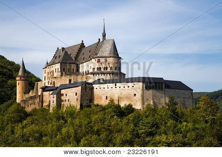 Medieval Castle Of Vianden, Luxembourg