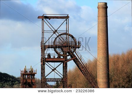 Coal mine head wheel.