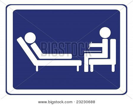 Psychology session sign vector