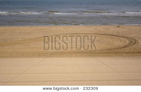 Tracks On The Sand