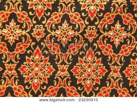 Thai Hand-made Fabric Pattern, Background Or Texture