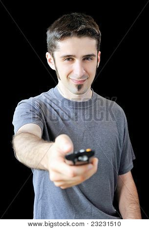 Yonug Man With Remote Control