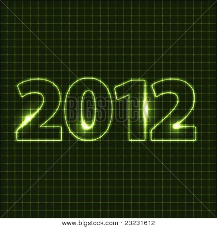 Vector New Year card 2012