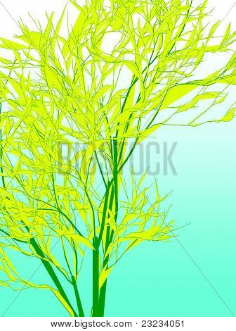 Yellow bamboo like abstract background