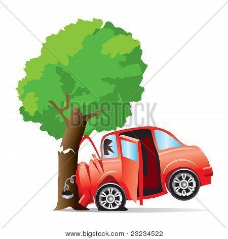 Car crashed into tree