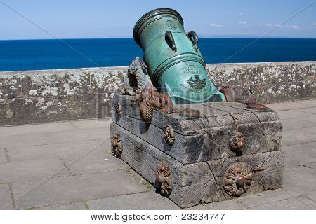 Mediaevil Cannon at Culzean Castle, Ayrshire, Scotland