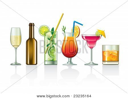 drink vector set