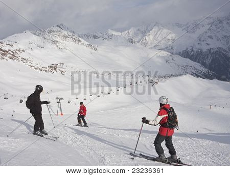 On The Slopes Of Solden. Austria