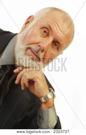 Handsome Older Businessman