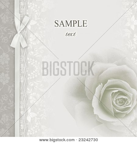 Wedding invitation frame flowers Stock photo