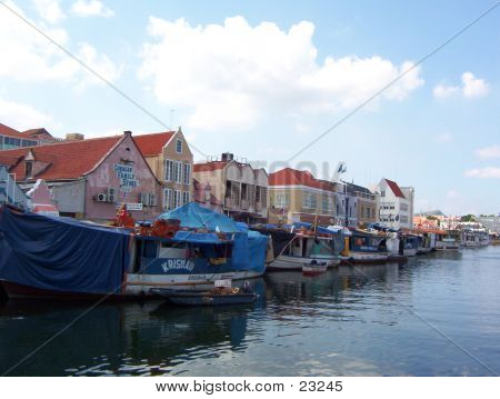 Floating Market In Curacao