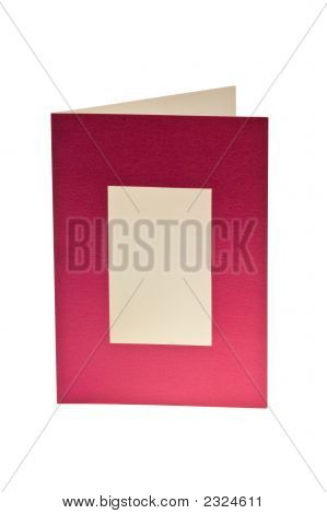 Isolated Blank Greeting Card With Window