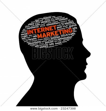 Silhouette Head - Internet Marketing
