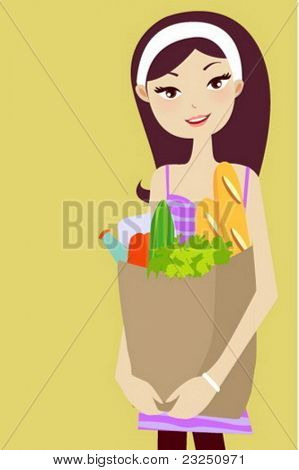 chica del supermercado