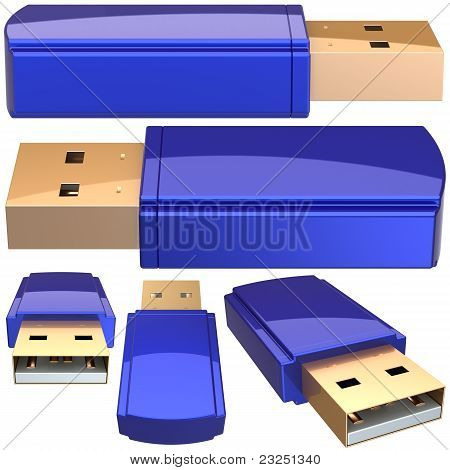 USB Flash memory drive generic the set