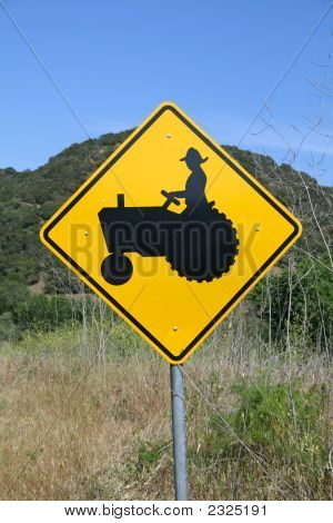 Farmer Crossing Sign