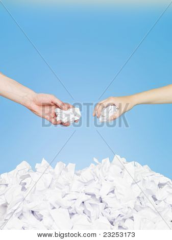 Hands With Papers
