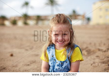 Beautiful Small Girl Smiling