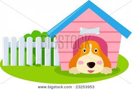 Dog and house
