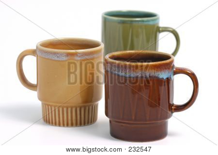 Coffee Cup Over White