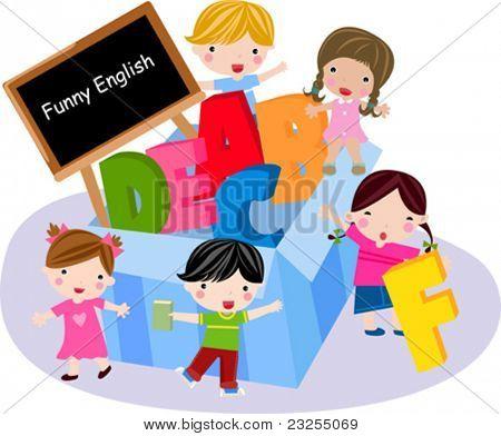Kids and alphabet