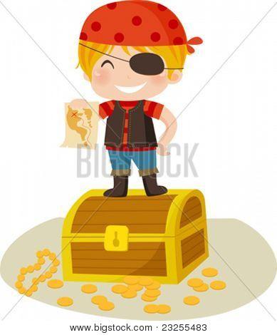Niño pirata - Vector