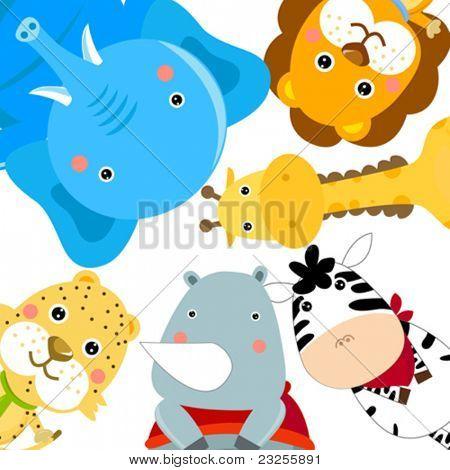 conjunto de animales