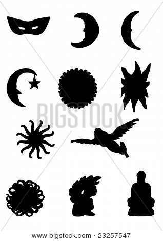 symbols silhouette
