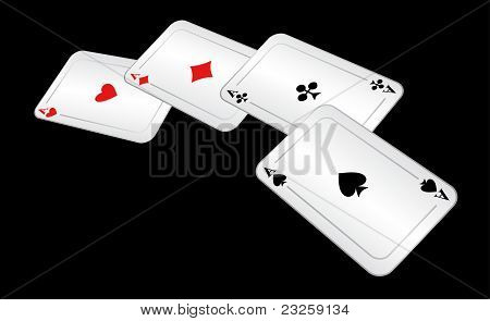 Four Playing Cards.