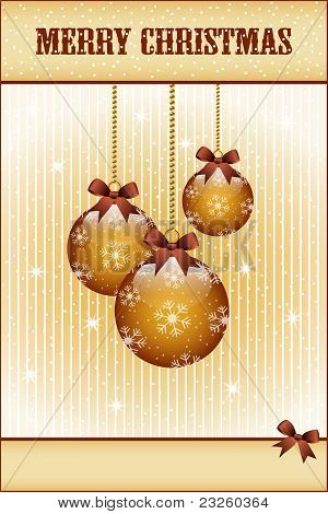 Gold Christmas Balls And Bows