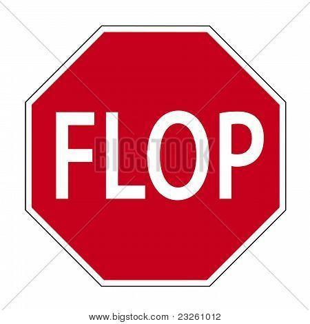 Signo divertido FLOP