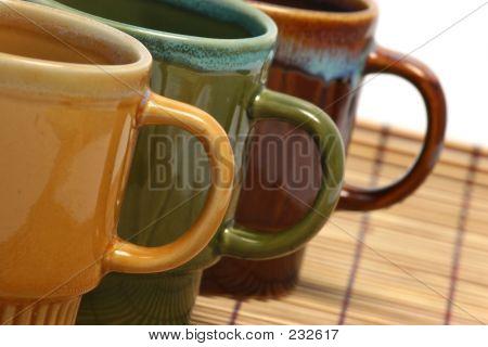 Three Coffee Cups Oblique