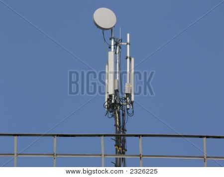 Gsm Network And Radio-Relay Antenna