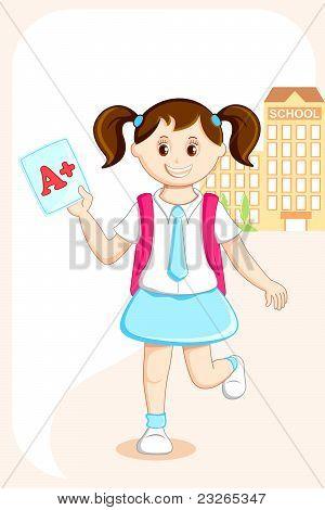 Girl with Grade Sheet