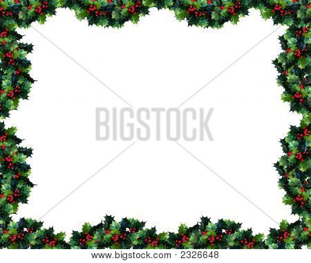 Holly Garland Frame Or Border