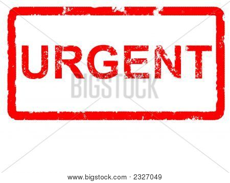 Urgente rojo Grunge