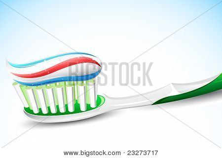 Tooth Paste on Tooth Brush