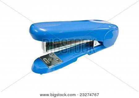 Blue  Stapler Side View