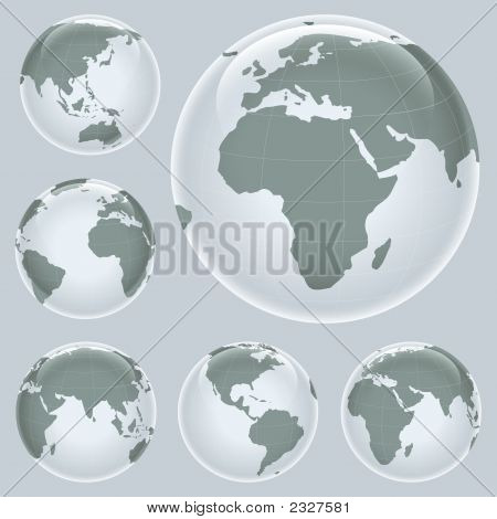 Shiny Earth Map