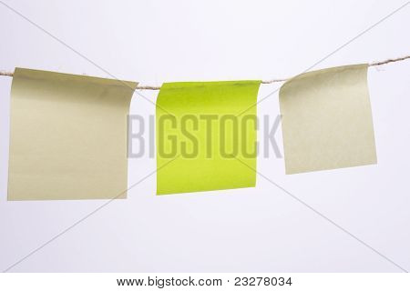 Stack Of Colorful Sticky Notes With Yellow