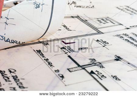 Textura de vários planos de construção