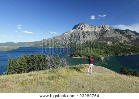 Photographer at Waterton Lakes National Park, Alberta, Canad