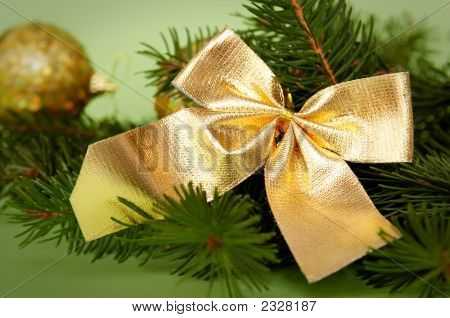 Golden-Green Christmas Decoration