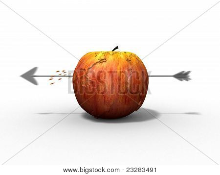 Apple Earth Earth Hit By An Arrow