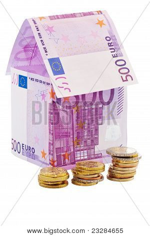 House from € banknotes