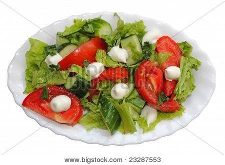 Salad,lettuce Tomato Cucumber