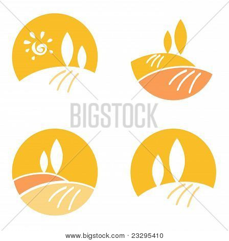 Abstract Country / Landscape Design Elements & Icons - Orange.