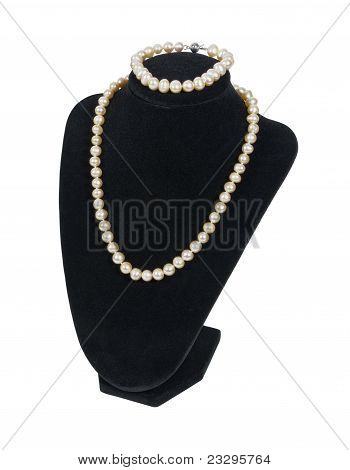Pearls On A Velvet Neck Mold