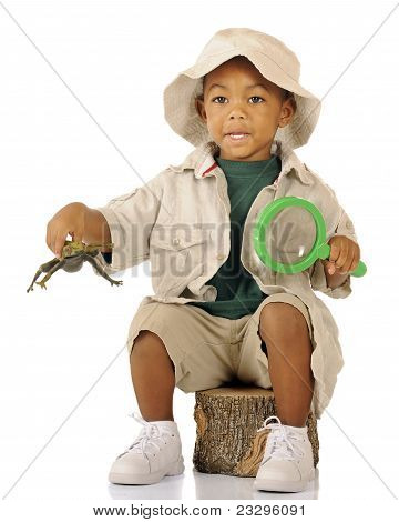 Explorer With Frog